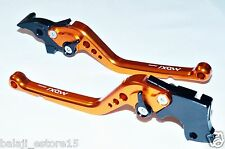Orange Long 6 Position Adjustable Brake Clutch Levers KTM Duke/RC 200/390