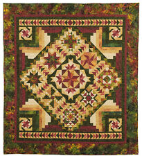 Tonga Nature Block of the Month Pattern by Wing and a Prayer Designs