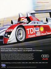 2007 Audi R10 TDI Diesel Race - Original Advertisement Print Art Car Ad J564