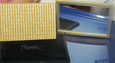 100% Authentic YSL Makeup Heavy MIRROR in Gold With Pouch~ Limited Very Rare