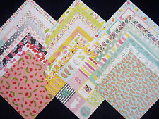 12X12 Scrapbook Paper Cardstock American Crafts Happy Place Summer Spring 24 lot