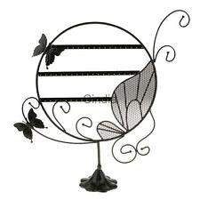 Earrings Jewelry Butterfly Display Stand Holder Show Rack Organizer Black