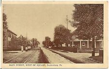 Main Street West of Square in Soudersburg PA Postcard 1918
