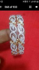 22 ct gold plated American diamond ,indian /english jewellery  bangles 2.8