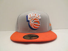 NEW ERA NBA NEW YORK KNICKS NEON LOGO POP FITTED CAP HAT SIZE 7 7/8 NWT GREY