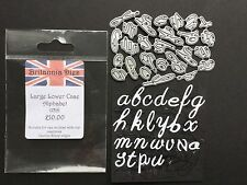 Britannia cutting dies Large Lower Case Alphabet (139)