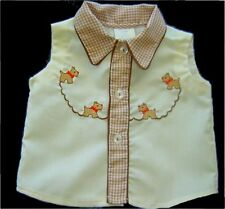 Vintage Yellow and Brown Baby boy Diaper Shirt
