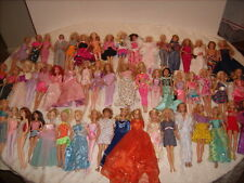 LARGE LOT OF 56 MATTEL BARBIE KEN DOLLS with Clothes Various Years
