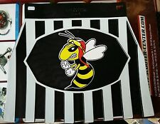 Vespa Wasp Black and White Stripped Mudflap Hard Rubber Type.. New!!