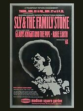 """Sly and the family stone New York 16"""" x 12"""" Photo Repro Concert Poster"""