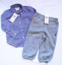 NEW Ralph Lauren Boys Smart Shirt Joggers Outfit Tracksuit Suit 12-18 m