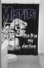Sourpuss Misfits Die My Darling Fabric Shower Curtain & Rings Gothic Horror