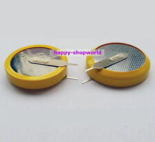 2 x New Tabbed 3V CR2450 Battery Coin Cell Button 2 solder parallel Tabs/Pins