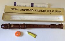Yamaha YRS-43 Suprano Recorder Boxed Wooden Excellent Piece