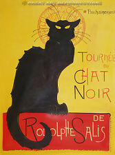 """Tounee Du Chat Noir"", Steinlen,  Art Nouveau,  Reproduction in Oil, 54""x38"""