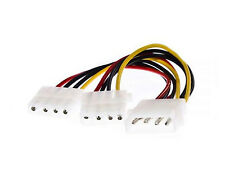 CABLE IDE MOLEX A 2 IDE DOBLE ADAPTADOR ALIMENTACION DISCO DURO CD DVD PC