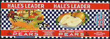 *Original* HALE'S LEADER Oklahoma HUNT HOUNDS Pear Can Label NOT A COPY!