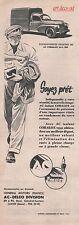 Publicité La Fourgonnette  Peugeot 203  bougie AC vintage ad  1951 -2j