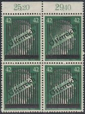 Österreich 1945 Wiener Aufdruck Nr. 673 I 4er Block ** Befund BPP