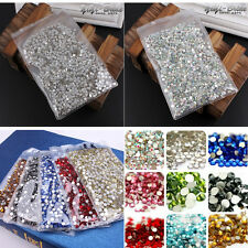 1440pcs SS3-SS20 Crystal Rhinestones Glass Flat-Back Tips Phone Nail Art Supply