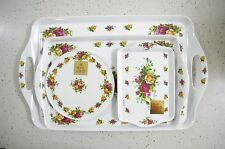 Royal Albert OLD COUNTRY ROSES Serving Tray 4Pcs Set