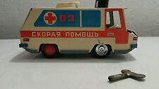 VINTAGE VEHICLE BUS CAR AMBULANCE WIND UP TOY KIEV USSR RUSSIAN CCCP ORIG. KEY