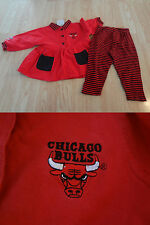 Toddler Girls Chicago Bulls 2T Vintage Cheerleader Cheer Outfit Dress & Pants Mi