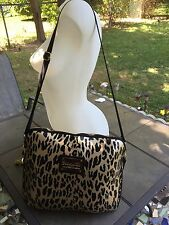 EUC Betseyville by Betsey Johnson Computer Shoulder Bag Gold/black Animal Print