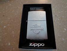 HARLEY DAVIDSON STAMPED BAR & SHIELD #24002 ZIPPO LIGHTER MINT IN BOX