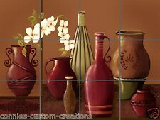 Tuscan Pottery Tile Mural Kitchen Bathroom Back Splash Ceramic Artistic Picture