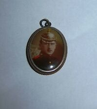 GERMAN - Silver, Photo Pendant, with German Soldier in Spiked Helmet.