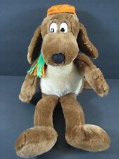 "17"" GO DOG GO Brown Puppy Dog Orange Hat KOHLS Floppy Plush  B167"