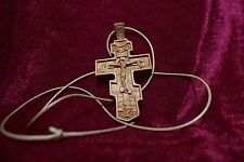 Free shipping! Wooden Carved Neck Cross Alder wood. Orthodox. Rare