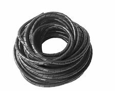 10m Roll 10mm Spiral Wrapping Band Cable Management Black