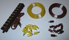 Anschluß-Set für Puppenhäuser / Krippen - Verteiler, Litzen, Stecker - Farbwahl