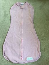 WOOMBIE Original One-step BABY SWADDLE Pink 3-6m 14-19 lbs Soft Stretchy NEW