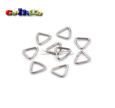 50pcs 8mm Silver Triangle Jump Ring Bails Link Connector for Key Ring Bag Strap