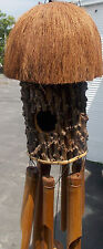 Birdhouse Coconut Bamboo Wind Chime