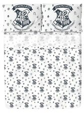 Harry Potter Hogwarts Crest Print Microfiber Full Sheet Set Gift New In Box!