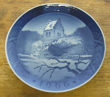 2nd Quality Royal Copenhagen 1966 Christmas Plate Blackbird Bird Danish Denmark