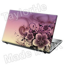 "17 ""Laptop piel cubierta de adhesivo Pink/purple Flores 79"