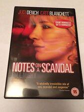 Notes On A Scandal (DVD, 2007) judi dench, cate blanchett, region 2 uk dvd