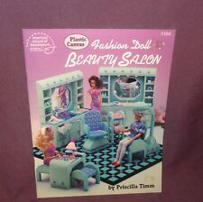 Plastic Canvas Fashion Doll Beauty Salon Pattern Book 3104   1991