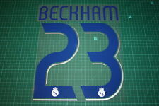 Real Madrid 06/07 #23 BECKHAM Homekit Nameset Printing