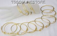 Gold Plated Expandable Bracelets 2.5 to 3 Inch  Matte Gold Pkg Of 12