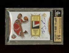 08-09 DERRICK ROSE UD SP AUTHENTIC AUTO PATCH ROOKIE RC /299 BGS 9.5/10 GEM MINT