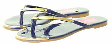 Ladies Womens Summer Flat Flip Flops Beach Gold Toe Thongs Shoes Sandals Size