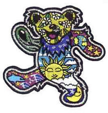 "GRATEFUL DEAD DAN MORRIS DANCING BEAR WITH SUN MOON & EARTH PATCH NEW 3 1/2""TALL"