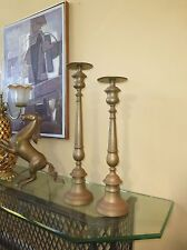 Vintage French Provincial Style Tall Brass CANDLE STICKS Candles holders