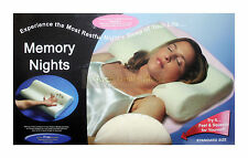 CONTOUR MEMORY FOAM PILLOW NECK BACK SUPPORT ORTHOPAEDIC FIRM HEAD PILLOWS